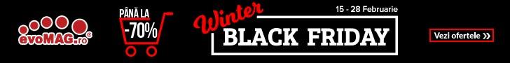 Nu rata reducerile evoMAG de Black Friday in luna februarie.