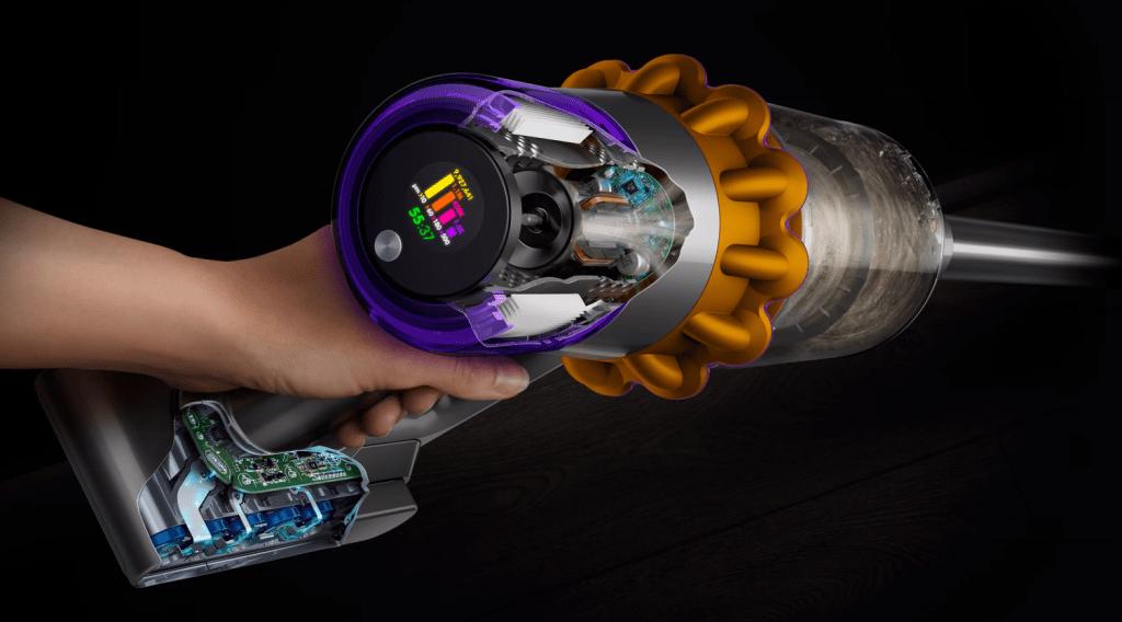 Aspiratorul Dyson afiseaza particulele curățate